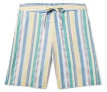 New York Special Checked Indigo-dyed Cotton-twill Shirt - Indigo