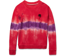 Tie-dyed Palm Tree-intarsia Cashmere Sweater