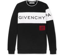Logo-embroidered Fleece-back Cotton-jersey Sweatshirt