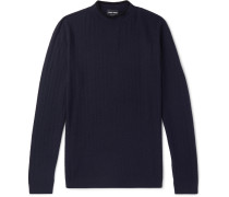 Slim-fit Herringbone Virgin Wool-blend Sweater