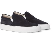 Suede Slip-on Sneakers - Black