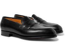 Piccadilly Leather Penny Loafers - Black