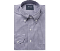 Easyday Button-Down Collar Gingham Cotton-Poplin Shirt
