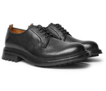 Exeter Pebble-grain Leather Derby Shoes