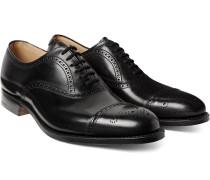Toronto Cap-toe Leather Oxford Brogues - Black