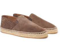 Intrecciato Suede Espadrilles - Light brown