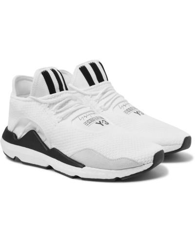 Y-3 Herren Saikou Suede-trimmed Primeknit Sneakers Auslass Eastbay Verkauf Freies Verschiffen 8dEfQn