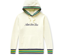 Logo-Embroidered Cotton-Fleece Hoodie