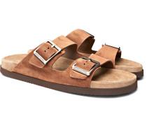 Suede Sandals - Brown