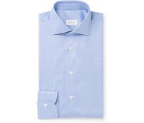 Blue Cotton-Poplin Shirt