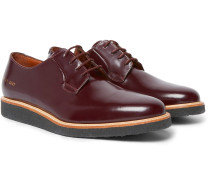 Glossed-leather Derby Shoes