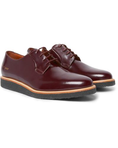 Common Projects Herren Glossed-leather Derby Shoes Auslass 100% Original Niedrigen Preis Versandkosten Für Günstigen Preis b14ttcH44
