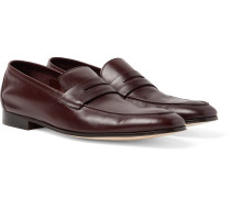 Glynn Leather Penny Loafers - Merlot