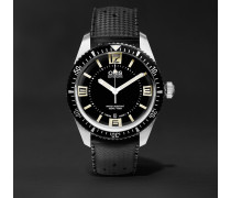 Divers Sixty-Five 40mm Stainless Steel and Rubber Watch, Ref. No. 73377074064TS
