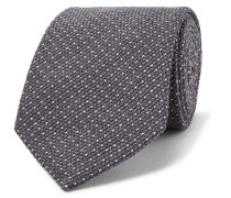 8cm Pin-dot Wool And Silk-blend Tie