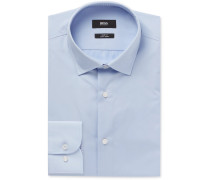 Light-blue Jesse Slim-fit Cotton-poplin Shirt