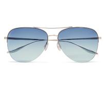 Chevalier Aviator-style Silver-tone Titanium Sunglasses