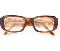 Square-frame Acetate Optical Glasses - Tan
