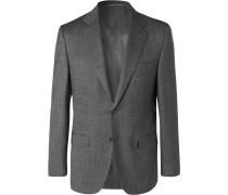 Grey Nailhead Wool Suit Jacket - Gray