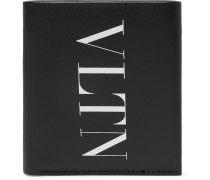 Valentino Garavani Logo-Print Leather Billfold Wallet
