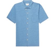 Indigo-dyed Cotton-jersey Shirt