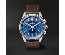 Polaris Chronograph 42mm Stainless Steel And Leather Watch - Blue