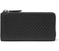 Pelle Tessuta Leather Zip-around Wallet - Black