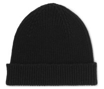 Ribbed Cashmere And Wool-blend Beanie