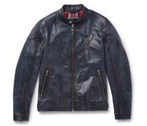 Maxford 3.0 Burnished-leather Jacket - Blue