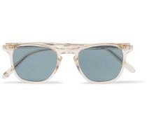 Brooks 47 D-frame Acetate Polarised Sunglasses - Clear