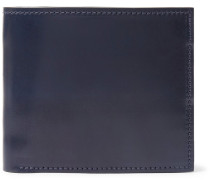 Horween Shell Cordovan Leather Billfold Wallet - Navy