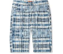 Slim-Fit Tie-Dyed Cotton Shorts