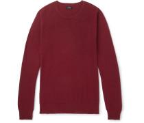 Cotton And Cashmere-blend Piqué Sweater