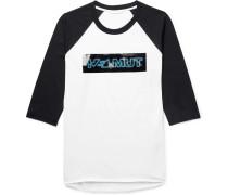 Pigeon Logo-print Colour-block Cotton-jersey T-shirt - White