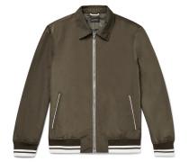 Stripe-trimmed Shell Blouson Jacket