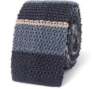 6cm Striped Knitted Silk Tie