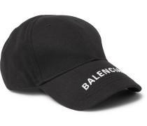Logo-embroidered Cotton-twill Baseball Cap - Black