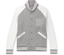 Logo-appliquéd Cotton-blend Jersey Bomber Jacket