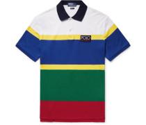 Hi Tech Striped Cotton-jersey Polo Shirt