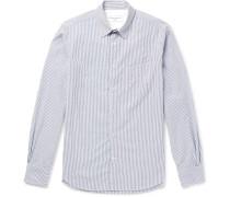 Benoit Slim-fit Striped Cotton-seersucker Shirt