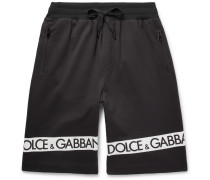 Logo-printed Loopback Cotton-jersey Shorts