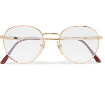 Round-frame Gold-tone Optical Glasses - Gold
