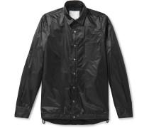 Layered Nylon Overshirt - Black