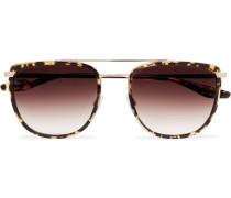 Lafayette Aviator-style Tortoiseshell Acetate And Gold-tone Sunglasses