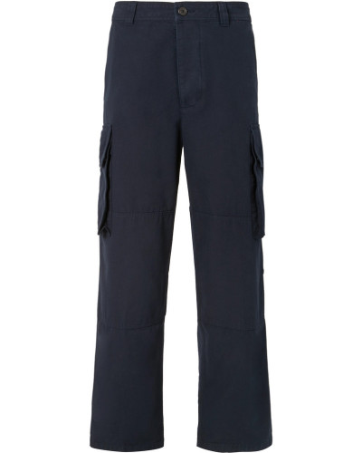 Wide-leg Cotton Cargo Trousers