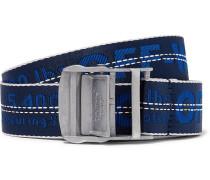 3.5cm Blue Industrial Canvas Belt - Blue