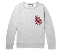 + Los Angeles Angels Appliquéd Mélange Loopback Cotton-jersey Sweatshirt
