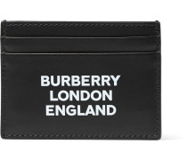 Logo-print Leather Cardholder - Black