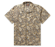 Camp-Collar Printed Cotton Shirt