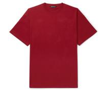 Oversized Logo-print Cotton-jersey T-shirt - Burgundy